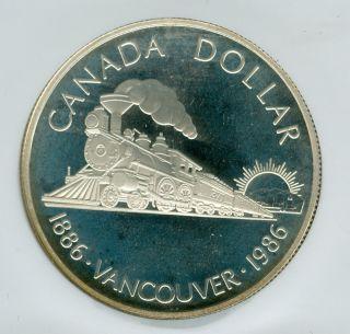1986 Canada Vancouver $1 Silver Dollar Ngc Pr69 Ultra Heavy Cameo photo