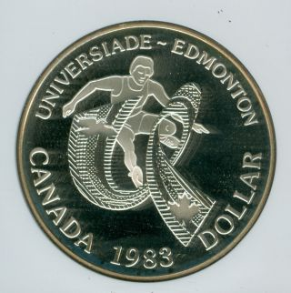 1983 Canada Games Silver $1 Dollar Ngc Pr69 Ultra Heavy Cameo photo