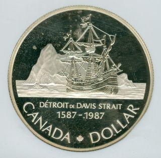 1987 Canada John Davis $1 Silver Dollar Ngc Pr69 Ultra Heavy Cameo photo