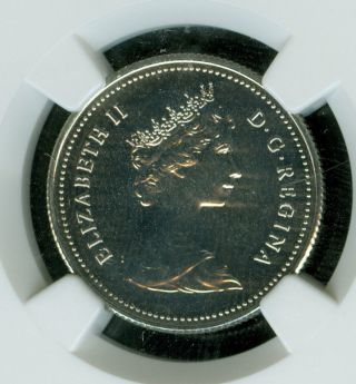 1980 Canada 25 Cents Ngc Ms - 67 2nd Finest Graded. photo