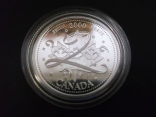 2000 Silver Proof Canadian Canada January Pride Twenty Five 25 Cent photo