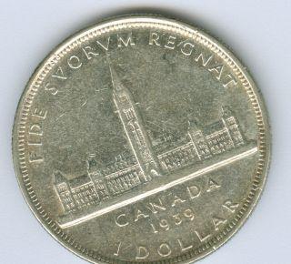 1939 Canada Silver Dollar Au. photo