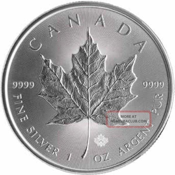 2014 Canada Silver Maple Leaf 1 Troy Oz 5 Dollar Coin Bu