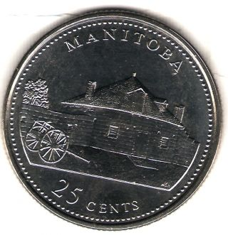 1992 Canada Uncirculated 25 Cent Commemorative Manitoba Quarer photo
