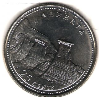 1992 Canada Uncirculated 25 Cent Commemorative Alberta Quarer photo