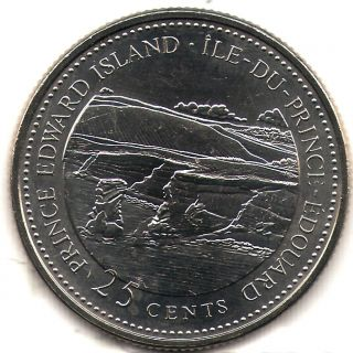 1992 Canada Uncirculated 25 Cent Commemorative Prince Edward Island Quarer photo