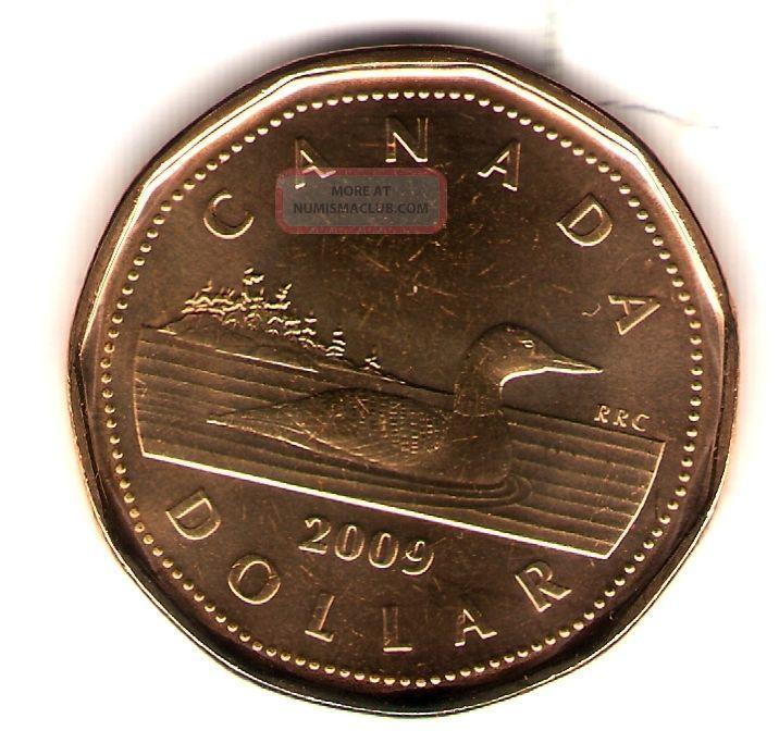 2009 Logo Canada Brilliant Uncirculated Elizabeth Ii One