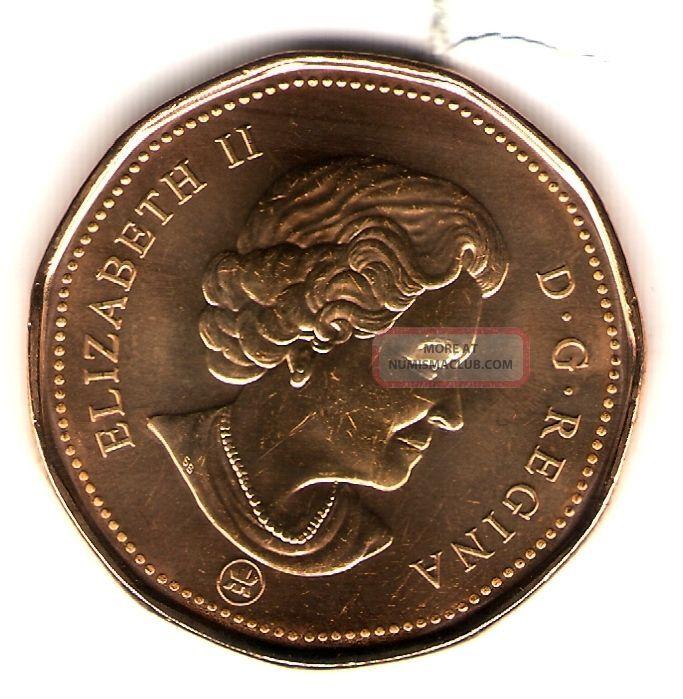 2009 Logo Canada Brilliant Uncirculated Elizabeth Ii One Dollar Loonie Coin