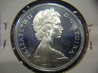 1967 Canada Silver Dollar Gem Bu Proof - Like Obverse photo