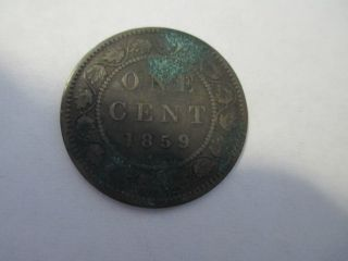 1859 One Cent Canada Copper photo