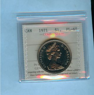 1971 Canada $1 British Columbia Coin photo