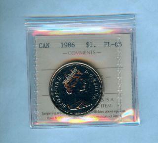 1986 Canada $1 Voyageur Coin photo