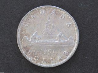 1951 Canada Silver Dollar Georgivs Vi Canadian Coin D7724 photo