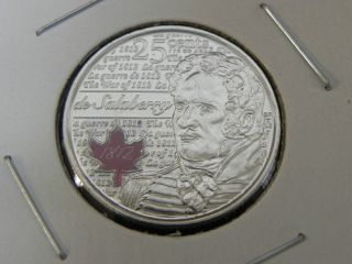 2013 Ms Unc Canadian Canada 1812 De Salaberry Colored Quarter 25 Cent photo