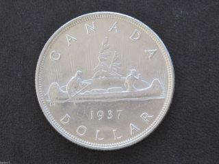 1937 Canada Silver Dollar Georgivs Vi Canadian D7726 photo