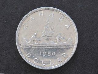 1950 Canada Silver Dollar Georgivs Vi Canadian Coin D7725 photo