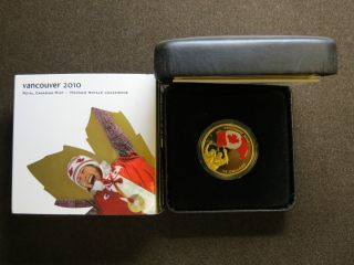 2007 $75 Gold Coin - Athlete ' S Pride Olympic Winter Games Vancouver Colourised photo