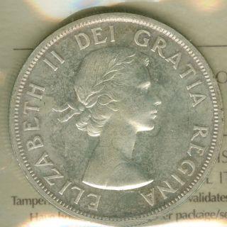 1958 Canada Silver Dollar Tottam Pole Mid Grade State Grade. photo