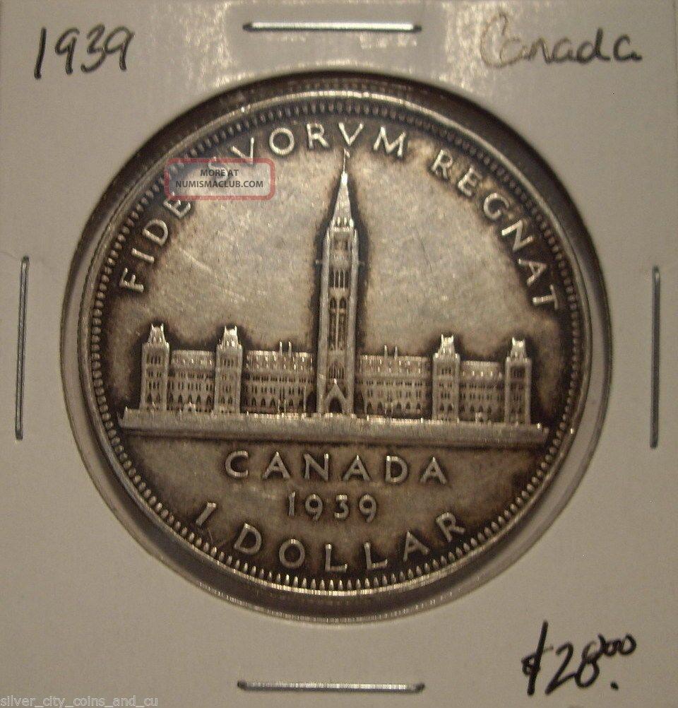 Canada 1939 George Vi Silver Dollar