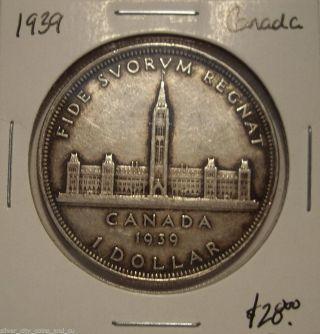 Canada 1939 George Vi Silver Dollar photo