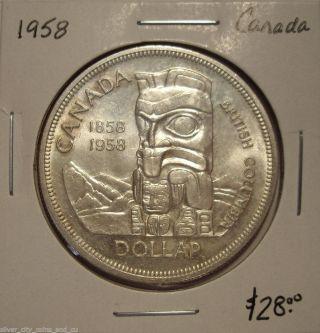 Canada 1958 Elizabeth Ii Silver Dollar - Bu photo