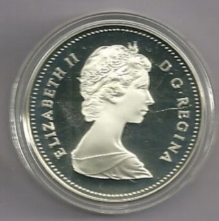 1983 Proof Frosted Canada Silver Dollar photo