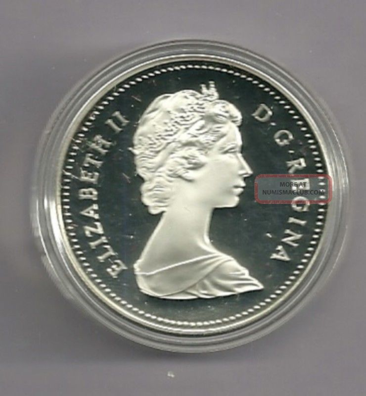 1984 Proof Frosted Canada Silver Dollar