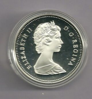 1984 Proof Frosted Canada Silver Dollar photo