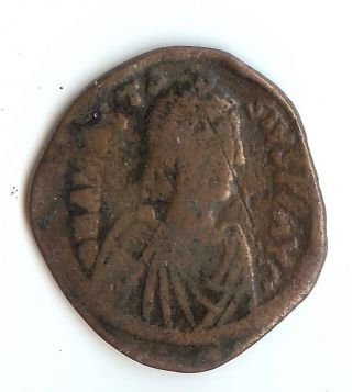 Anastasius I Huge Bronze Follis From Ancient Byzantine Empire 491 - 518 Ad photo