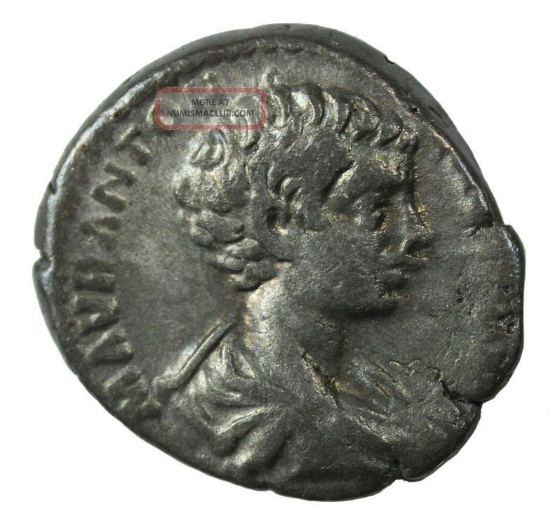 Caracalla Ar Denarius 198 - 217 Ad Vf Ric.  9 Ancient Roman Imperial Coin Coins: Ancient photo