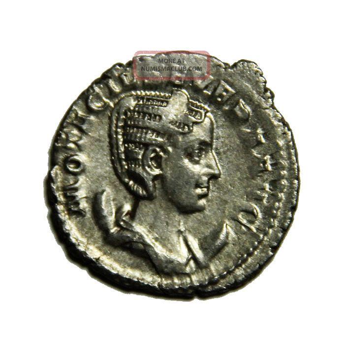 Scarce Otacilia Wife Of Philip I Ar Silver Antoninianus 244 - 249 Ad Rome Coins: Ancient photo