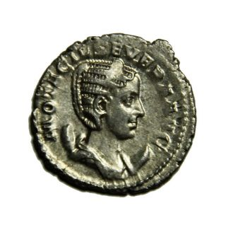 Scarce Otacilia Wife Of Philip I Ar Silver Antoninianus 244 - 249 Ad Rome photo