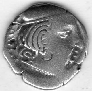 Rare Ancient Silver Drachm Coin Of Rudrasimha 1 178 - 197 Ce Westerm Kshatrapas photo