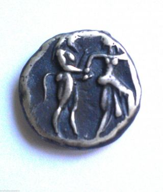 Satyr.  And Nymph Silver Stater Of Lete,  Of Thasos Island 500 B.  C photo