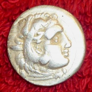 Greek Silver Drachm - Alexander The Great 4th Century Bc (432) photo