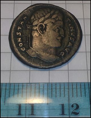 Constantine I - Sarmatia De Victa Commemorative Xf,  Metaldetector Find photo