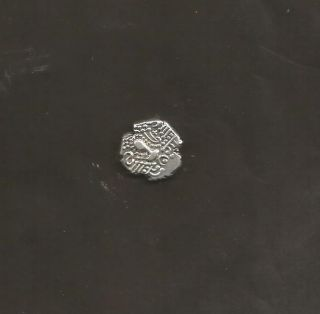 Anceint India Gujarat Region Base Silver Gadhaya Broad Flan Coin Very Rare. photo