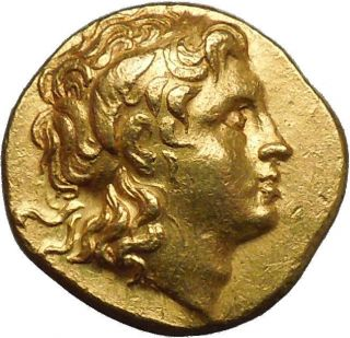 Lysimachus,  Pella,  286 Bc,  Gold Stater: Alexander The Great /athena. photo