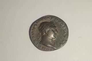 Very Rare Roman Emperor Trajan 98 - 117 Ad Danube Lying On Rocks Denarius Ric 100 photo