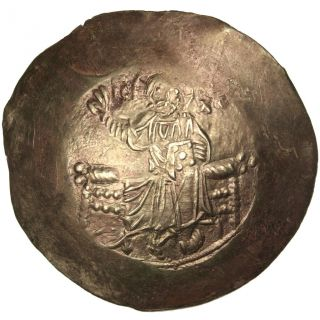 Bysantine Empire,  Jean Ii Comnène,  Aspron Trachy (scyphate) photo