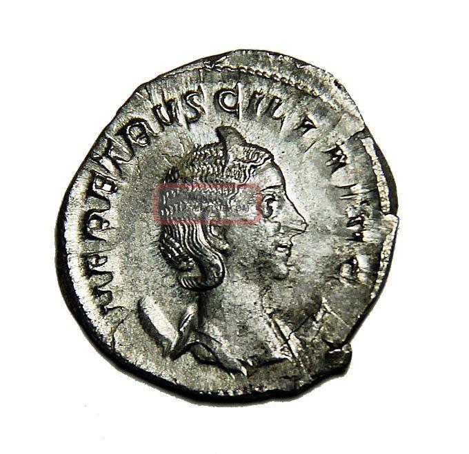Scarce Herennia Etruscilla Ar Antoninianus 249 - 251 Ad 250 Ad Rome Vf Roman Coin Coins: Ancient photo