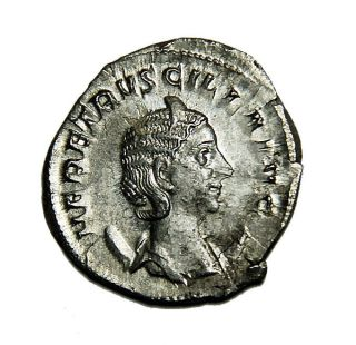 Scarce Herennia Etruscilla Ar Antoninianus 249 - 251 Ad 250 Ad Rome Vf Roman Coin photo