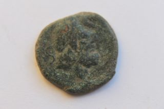 Ancient Roman Republic Bronze Semis Coin 2nd Century Bc photo