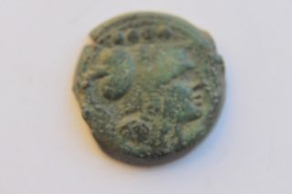 Ancient Roman Republic Bronze Triens Coin 2nd Century Bc photo