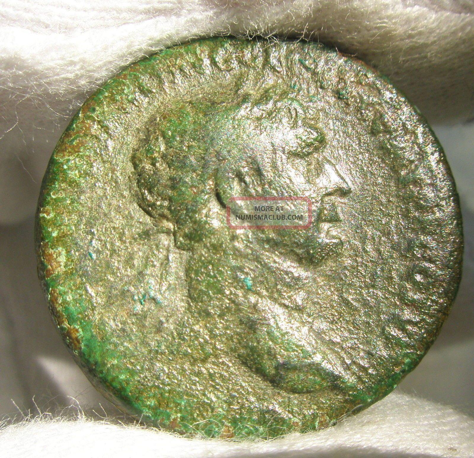 Ancient Rome Trajan Ae As Winged Victory Patina Spqr Principi Germania Dacia Rr Coins: Ancient photo