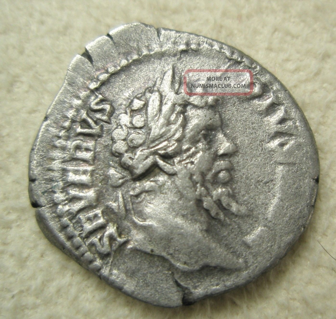 Ancient Rome Silver Denarius Septimius Severus Vota Sacrifice Altar Rome Fine Coins: Ancient photo