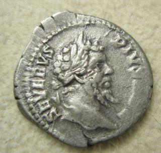 Ancient Rome Silver Denarius Septimius Severus Vota Sacrifice Altar Rome Fine photo