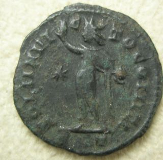 Ancient Rome Licinius I.  Follis Ae Siscia Soli Invicto Sol Fine A5 photo