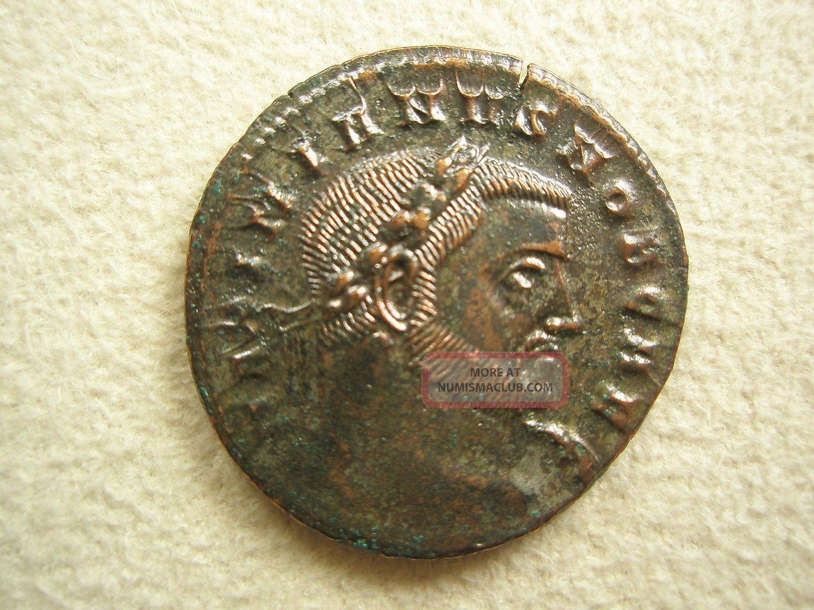 Ancient Rome Large Follis Galerius Moneta Ticinum Xf S33 Coins: Ancient photo