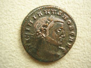 Ancient Rome Large Follis Galerius Moneta Ticinum Xf S33 photo